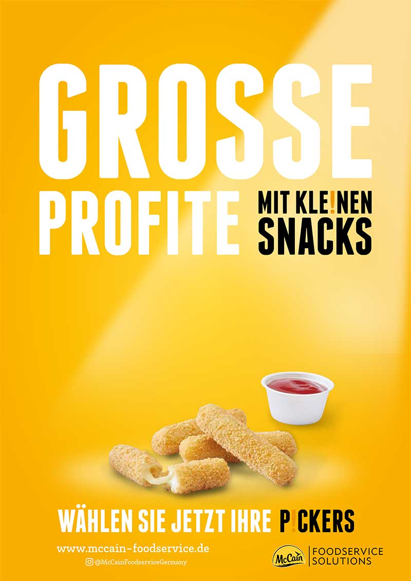 McCain P!CKERS – Grosse Gewinne mit kleinen Snacks